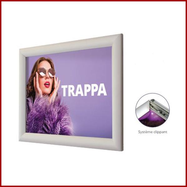 Le cadre clippant est un système d'affichage simple et pratique. Lorsque vous souhaitez changer de contenu régulièrement.