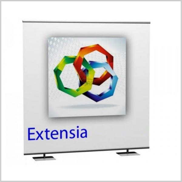 Découvrez le mur d'image Extensia ainsi que ses utilisations multiples et variées. Extensia peut être utilisé comme fond de stand, comme mur d'image ou encore comme photo call.