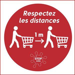 Signalétique de magasin et lieux recevant du publique avec les gestes barrières selon les normes de respect d'hygiène face au Covid 19