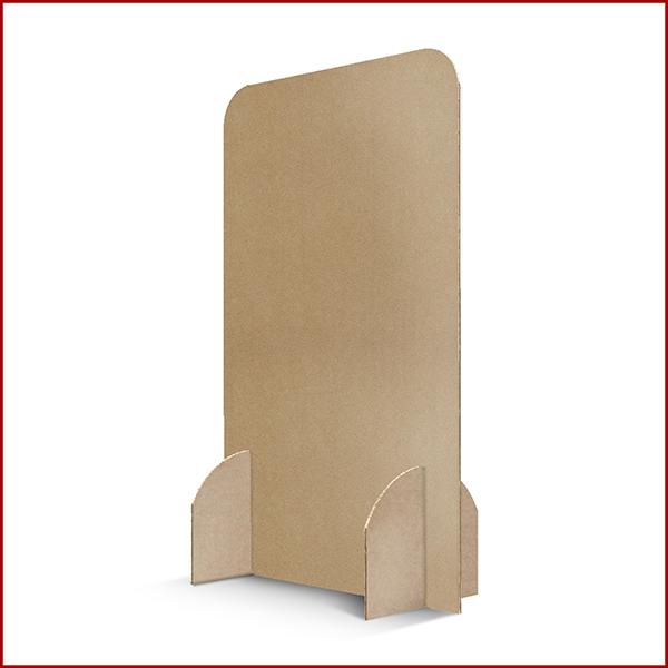 Cloison de protection jetable en carton recyclé. Montage facile et rapide. Idéale pour éviter les risques depropagation du COVID-19.