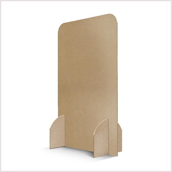 Cloison De Protection COVID-19. Dimensions (Long. x Prof. X Haut.): 118 x 59 x 190 cm. Carton alvéolaire 10 mm d'épaisseur. Possible avec option impression